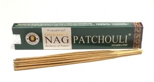 Vijayshree Golden Incense Sticks - Nag Patchouli (15g = 15 sticks approx.)